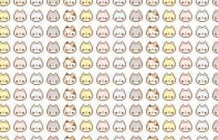Cute Kawaii Cat Patterns
