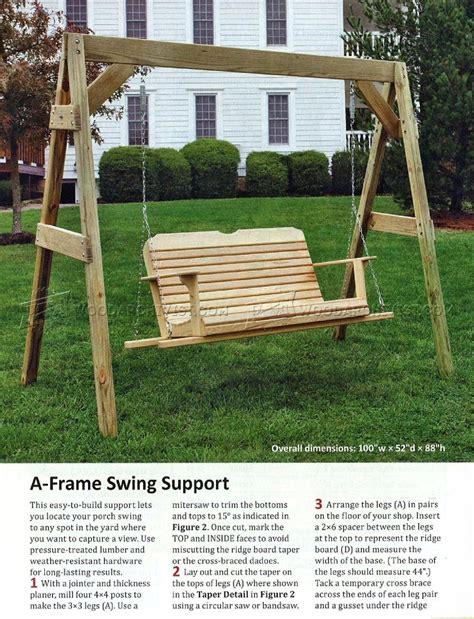 porch swing plans woodarchivist