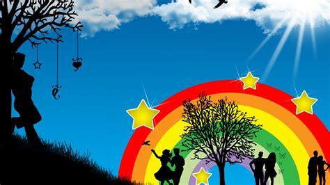 Wallpaper Of Vector by Vector Rainbow Wallpaper Hd Wallpapers