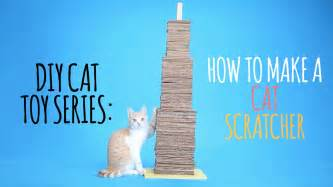 how to make a cat diy cat toys how to make a cat scratcher