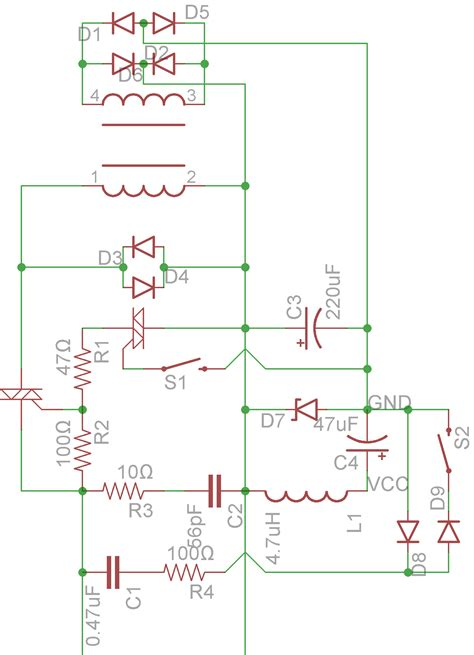 component ac power supply circuit the pc for tv and