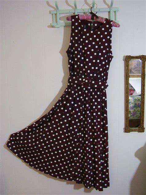 brown  white polka dot dress julia roberts pretty woman