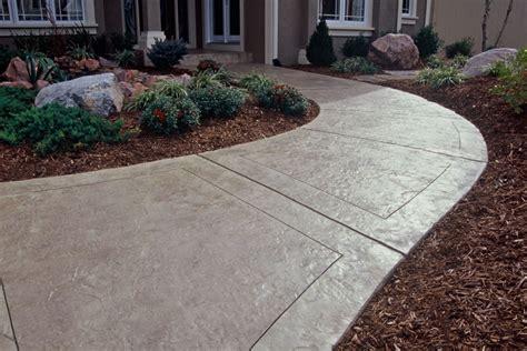decorative concrete walkways decorative front sidewalk buchheit construction