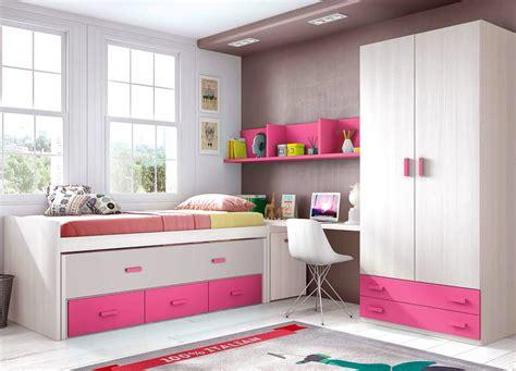 lit gigogne avec bureau chambre fille et avec un lit surélevé glicerio