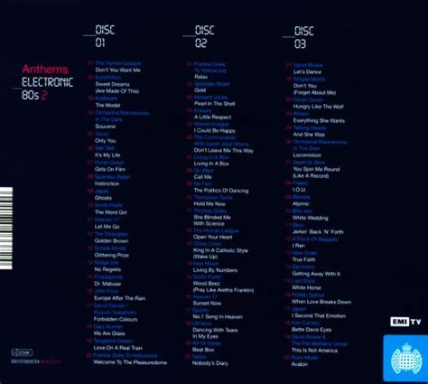 The ministry of sound label's anthems: Anthems: Electronic '80s, Vol. 2 - Various Artists   Songs, Reviews, Credits   AllMusic