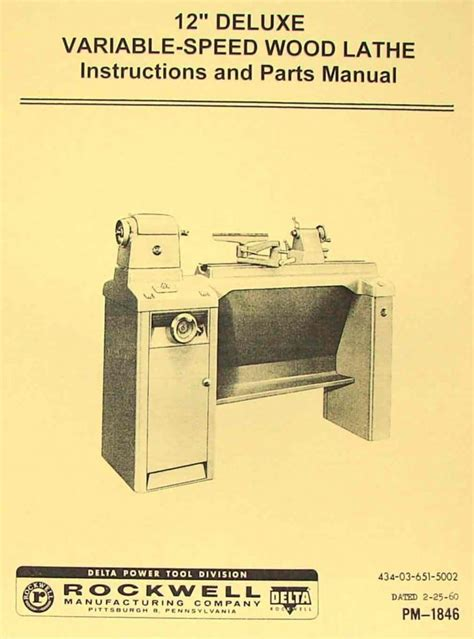 rockwell   style variable speed wood lathe manual