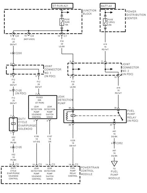 Wiring Diagram 99 Dodge Durango by 1998 Durango No Power To The Fuel I Checked The