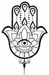 Hamsa Tattoo Eye Mandala Fatima Tiger Drawing Lotus Tatuaggio Necklace Tattoos Adjustable Stone Henna Spirituality Courage Wisdom Motivation Length Draw sketch template