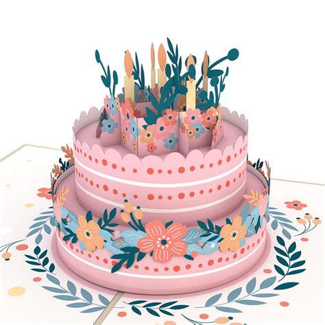 Floral Birthday Cake - Lovepop