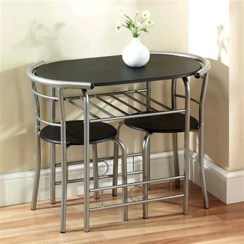 Small Kitchen Table With 2 Chairs Small Black Garden