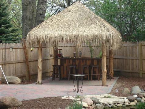 tiki hut backyard tiki hut finished backyard tiki bar pinterest