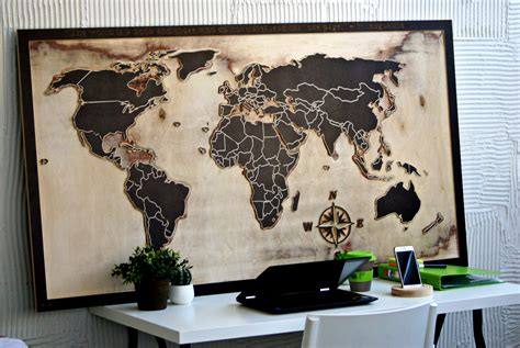 large wooden world map daydreamcom