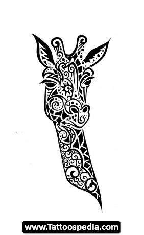 giraffe stencils   : Elephant Outline Tattoo , Cute