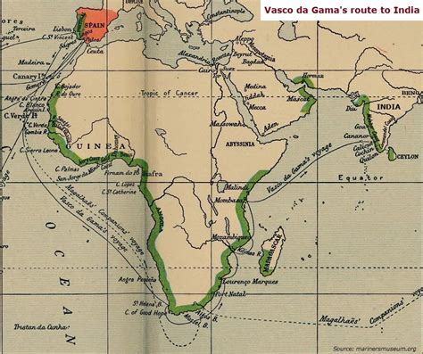 Route Vasco Da Gama by Modern Indian History The Portuguese