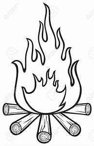 Campfire Black And White Clipart | Camping clipart ...