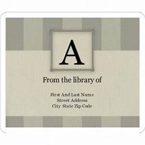 templates monogram bars bookplate label 6 per sheet avery With bookplate templates for word