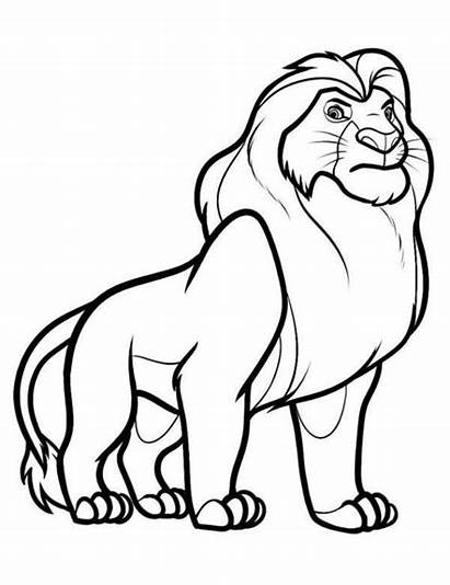 Coloring Lion King Pages Cartoon Drawings Tiger