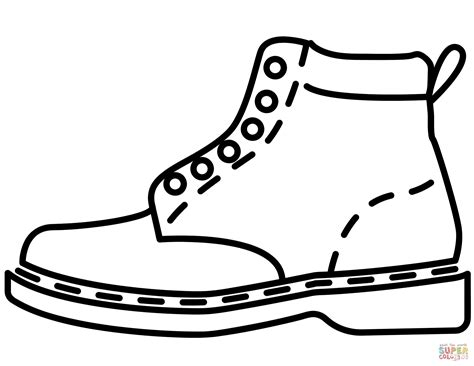 leather boot coloring page  printable coloring pages