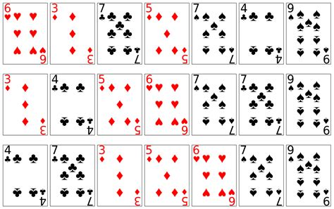 images  deck  playing cards printable