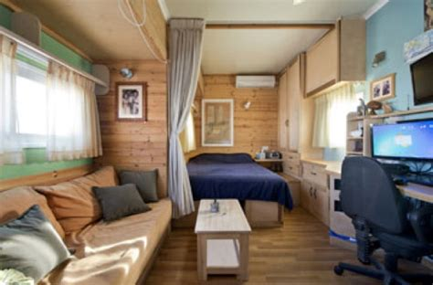 box truck converted  amazing diy solar mobile cabin