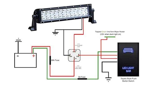 Led Light Bar Wiring Diagram For Truck by Light Bar Wiring Diagram Wonderful Shape Led Install