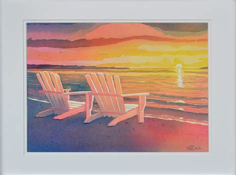 sunset painting original landscape adirondack