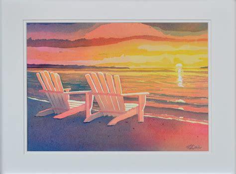 sunset painting original landscape adirondack