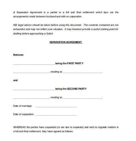 divorce agreement template 13 separation agreement templates free sle exle format free premium