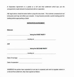 13 separation agreement templates free sample example With seperation agreement template
