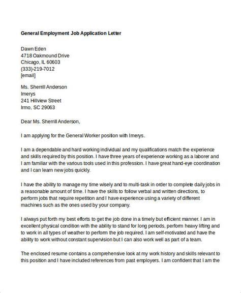 application letter   general job sample general