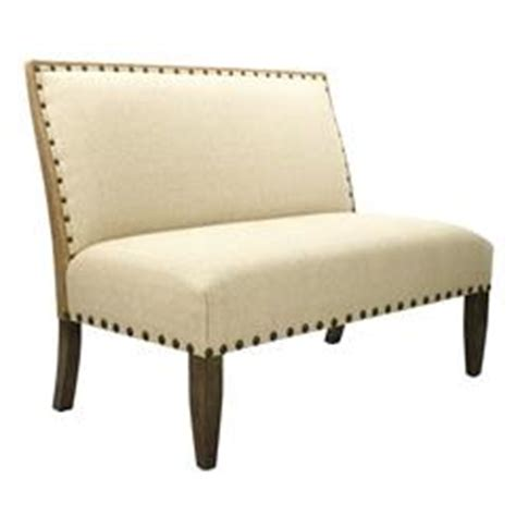 High Back Dining Settee by Country High Back Linen Sofa Dining Bench