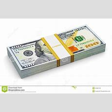 Stack Of New 100 Us Dollar Banknotes Stock Photo  Image