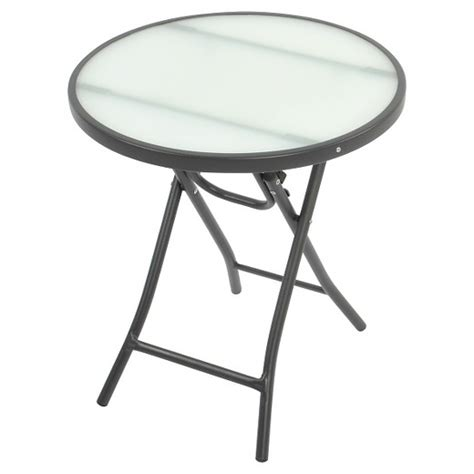 round decorator table target bistro round folding accent table clear room