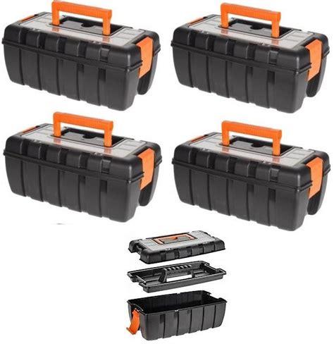 werkzeugkiste leer kunststoff kingkauf werkzeugkiste werkzeugkoffer mit kleinteilemagazin kunststoff kiste leer kaufen