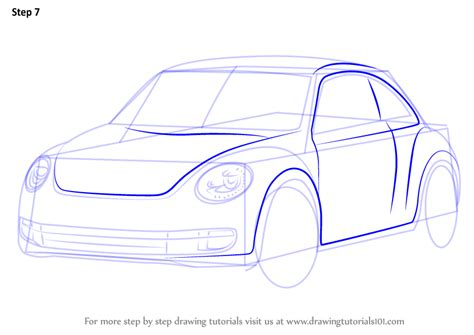Learn How To Draw Volkswagen Beetle (cars) Step By Step