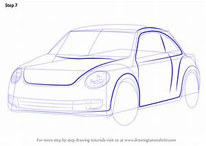 Learn How To Draw Volkswagen Beetle  Cars  Step By Step