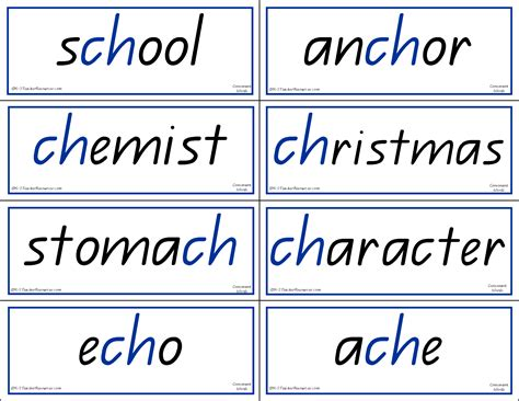 Phonics Words To Match Phonics Charts