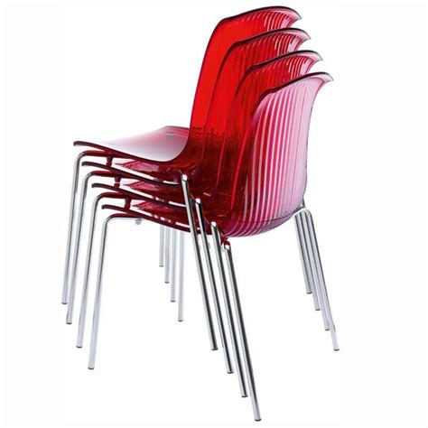 chaises en plexiglas chaise design en plexi transparent allegra 4 pieds