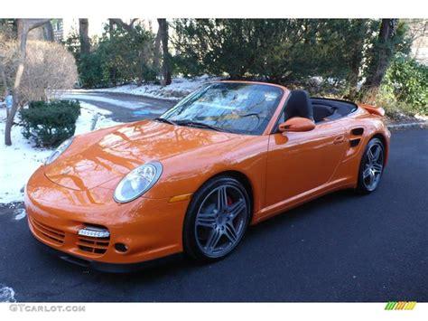2009 Orange Paint To Sle Porsche 911 Turbo Cabriolet