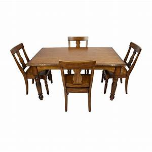 85 off pottery barn pottery barn solid wood dining set With barn wood dining room sets