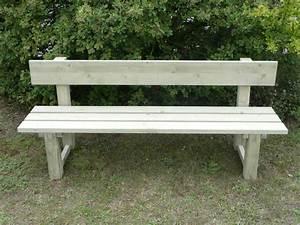 Banc De Jardin Bois : banc de jardin avec dossier en bois trait autoclave vert ~ Dode.kayakingforconservation.com Idées de Décoration