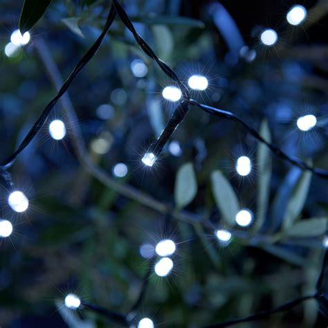 set of 100 decorative led solar string lights auraglow led lighting
