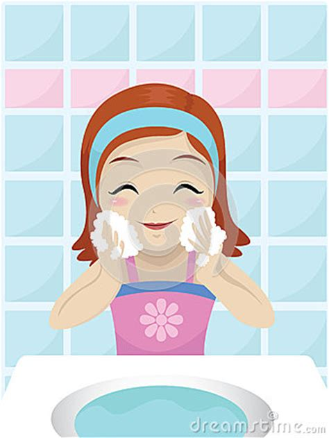 Girl Washing Her Face Royalty Free Stock Photo Image