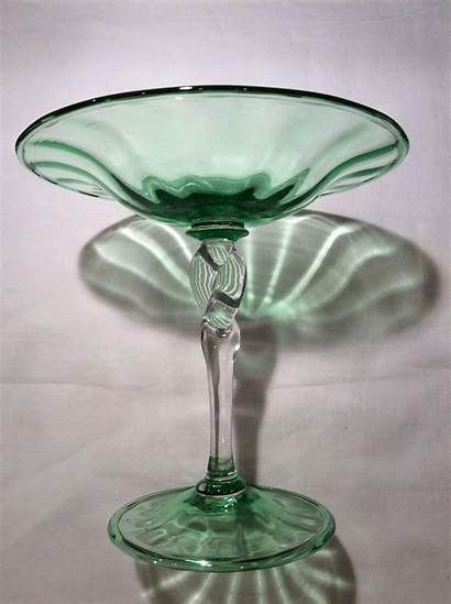 Glass Steuben Crystal Stem Twist Compote Act