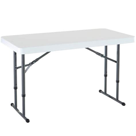 Lifetime White Granite Adjustable Folding Table-80160 ...
