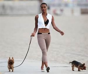 Montana Fishburne in Montana Fishburne Walks Her Dogs on ...