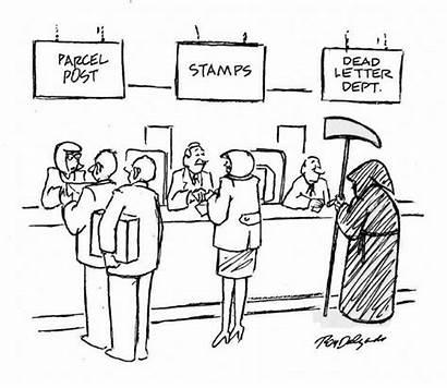 Letter Lost Office Usps Cartoon Drawing Worker