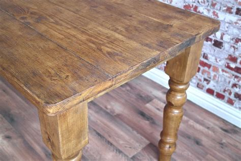 farmhouse reclaimed wood dining table  rustic finish