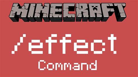 minecraft wie funktioniert der effect command youtube
