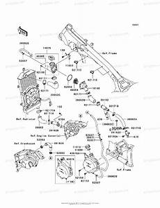 Kawasaki Motorcycle 2009 Oem Parts Diagram For Water Pipe